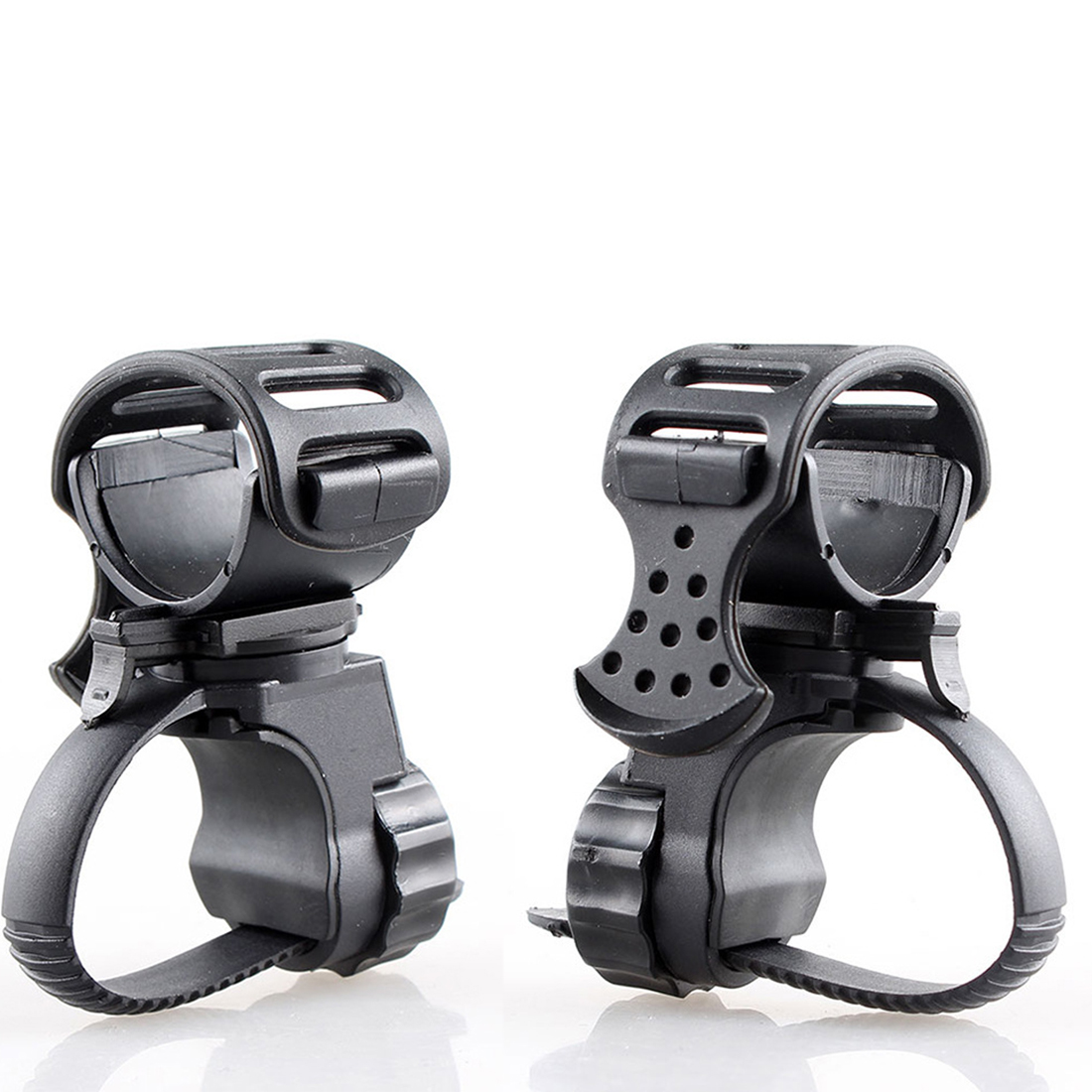 Hot Portable Cycling Bike Bicycle Light Lamp Stand Holder Rotation Grip LED Flashlight Torch Clamp Clip Mount Bisiklet Aksesuar