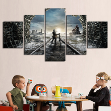 HD Printed Canvas Wall Artwork 5 Pieces Painting Games Metro 2033 Posters Modern Home Decoration For Living Room Framework