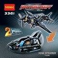 Игрушки для детей Строительные Блоки китай бренда 3361 самоконтрящимися кирпича Совместимость с Lego Technic 42002 На Воздушной Подушке