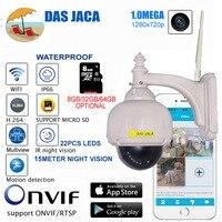 1 0mega 720P Wireless WiFi IP Camera Outdoor PTZ 6mm Len Digital Zoom Waterproof H 264