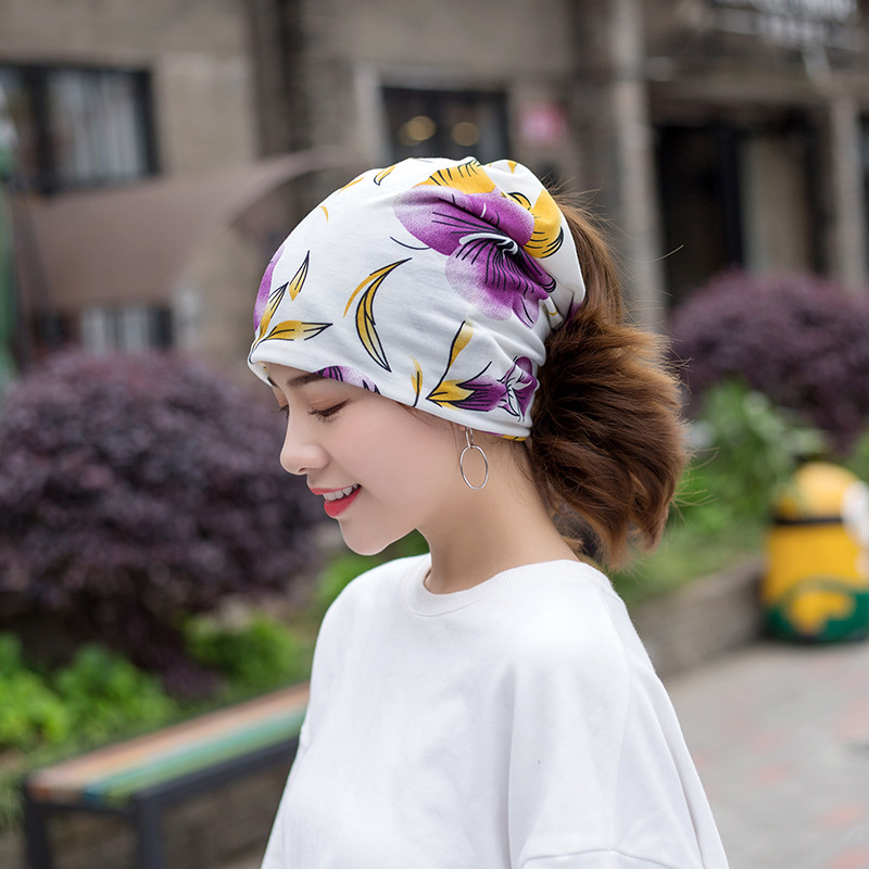 Sumeike New Winter Hats For Women Printing Cotton Hat Fashion Brand Cap Casual Warm Hat Female Bonnet