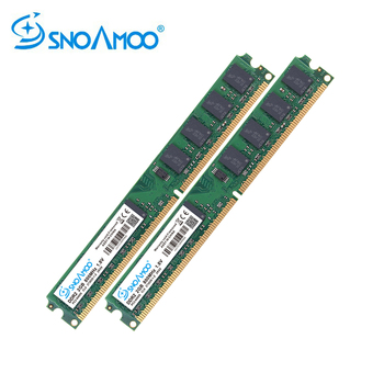 SNOAMOO RAM PC DDR2 2GBX2pcs 667MHz 800MHz PC2-6400S Desktop RAMs 240-Pin 1.8V DIMM For Compatible Computer Memory Warranty