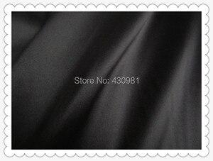 Image 5 - Großhandel 2 meter voll langweilig elastische satin stoff imitation seide material für ein stück kleid schwere schwarz satin spandex stoff