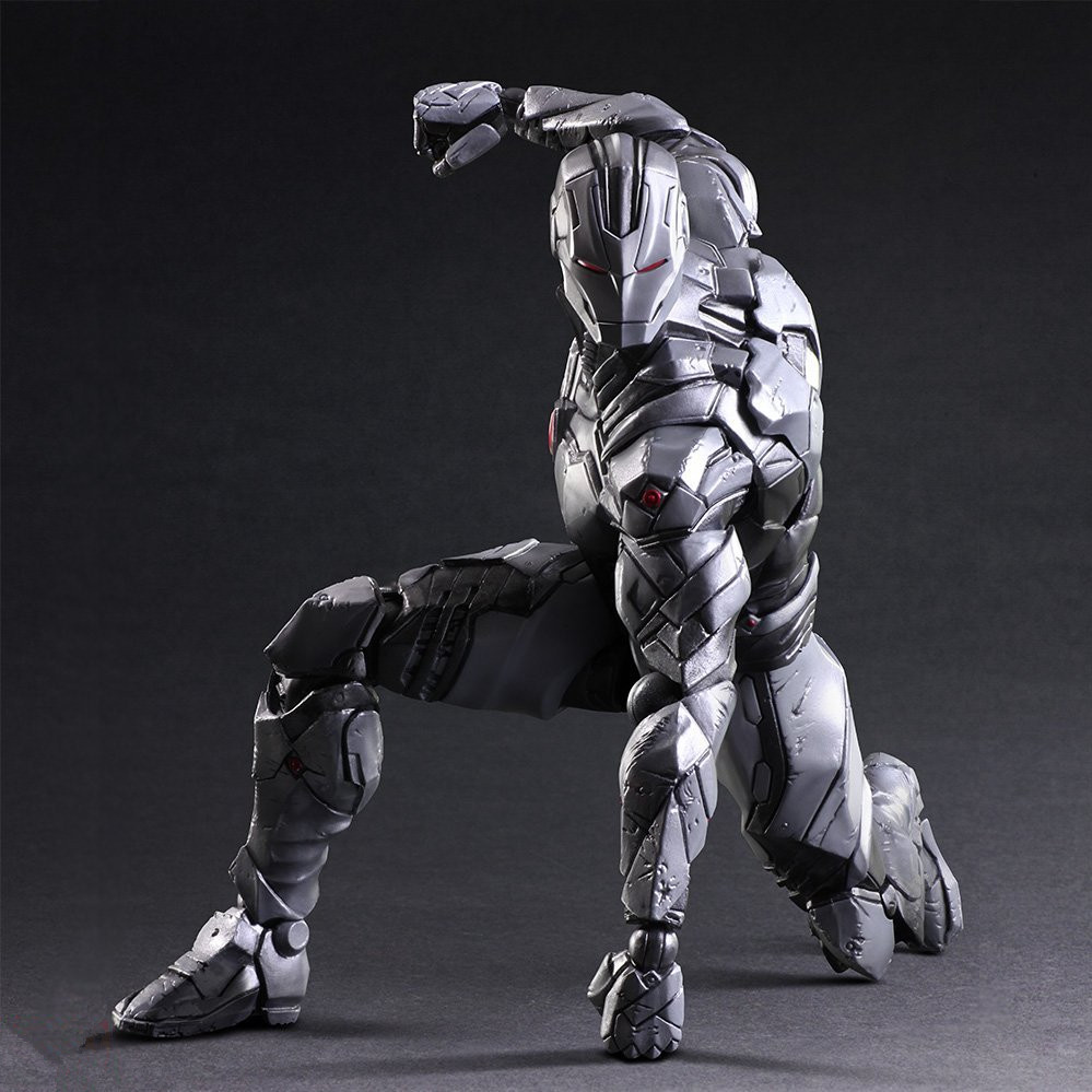 Iron Man Action Figure The Avengers Grey Ironman Play Arts Kai PVC Toy 25cm Anime Movie Model Iron Man Playarts Kai Superhero spiderman action figure play arts kai spider man 250mm evil version anime superhero playarts spider man model toy