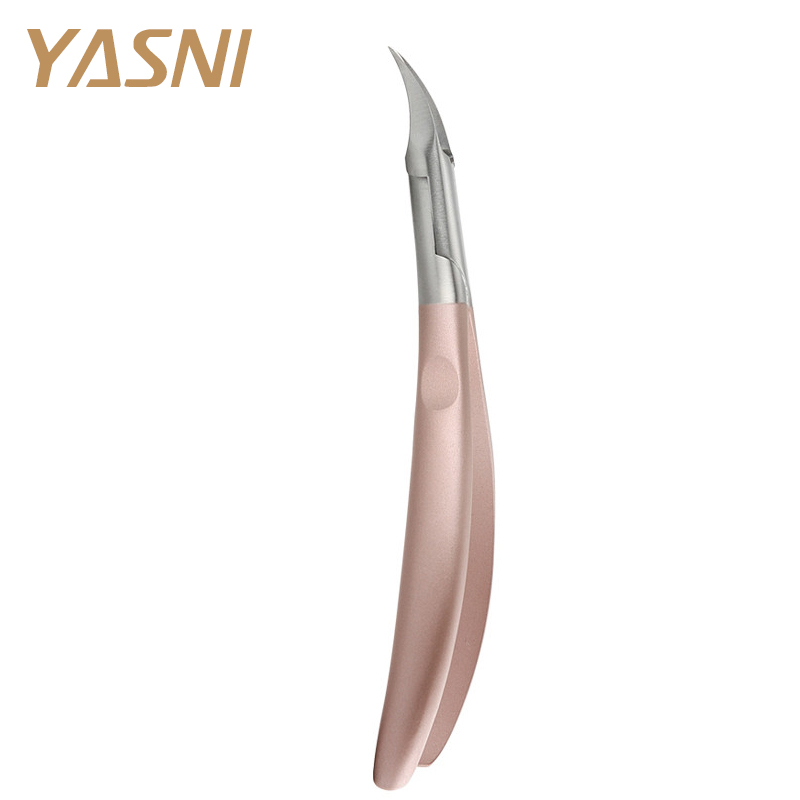 Rose Gold Foot Cuticle Scissors Pliers Feet Care Toe Nail Clippers Trimmer Cutters Paronychia Nippers Manicure Remover Tool NT80 practical dual ways stainless steel cuticle pusher remover nail art tool