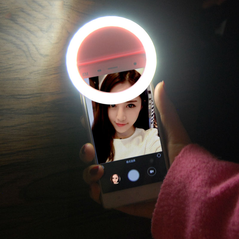 Selfie Ring Light LED Flash Make Up Selfie Photography Phone Ring For IPhone 7 8 Plus X XS 6S 5S Redmi Note 4X 4A Mi
