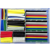 385 Pcs Heat Shrink Tube Tubing Free Storage Box 2 1 Shrink Ratio 600V Voltage Rating