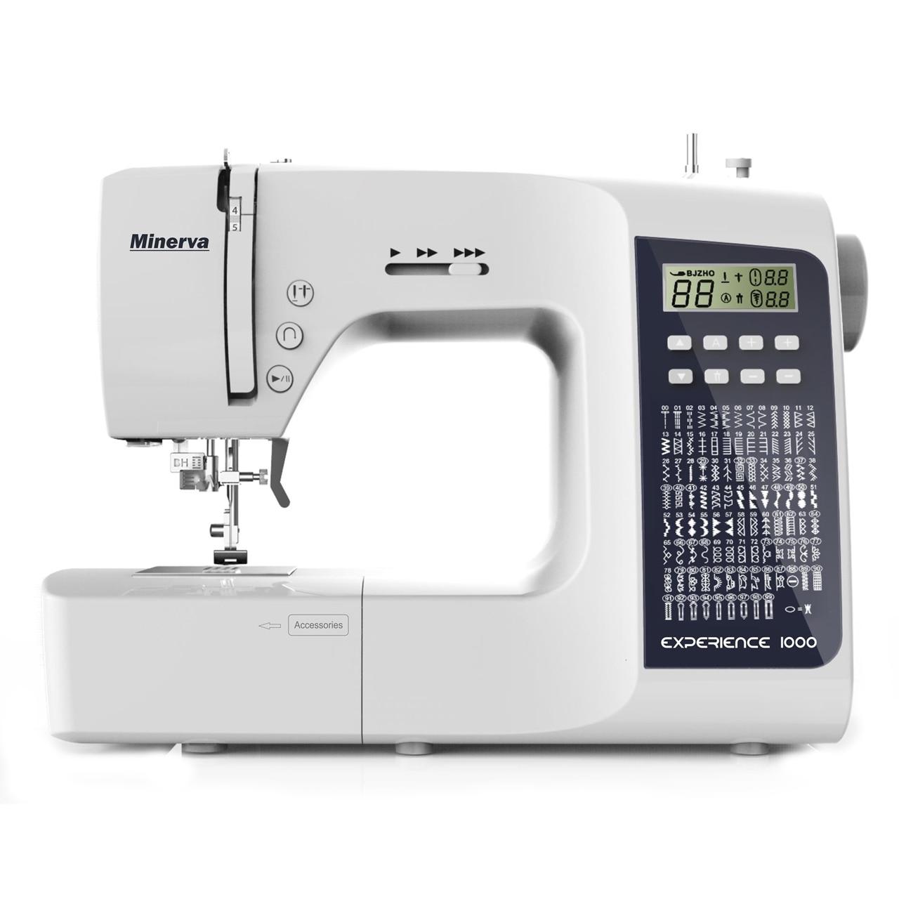 Sewing machine Minerva Experience 1000 (100, electronic, lighting, full set) sewing machine minerva indi 219i