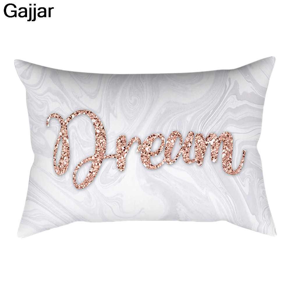 Gajjar Pillow Case Square Pillowcase Home Decoratio Rose Gold Pink Cushion Cover nordic decoration home almofadas para  1.oct.23