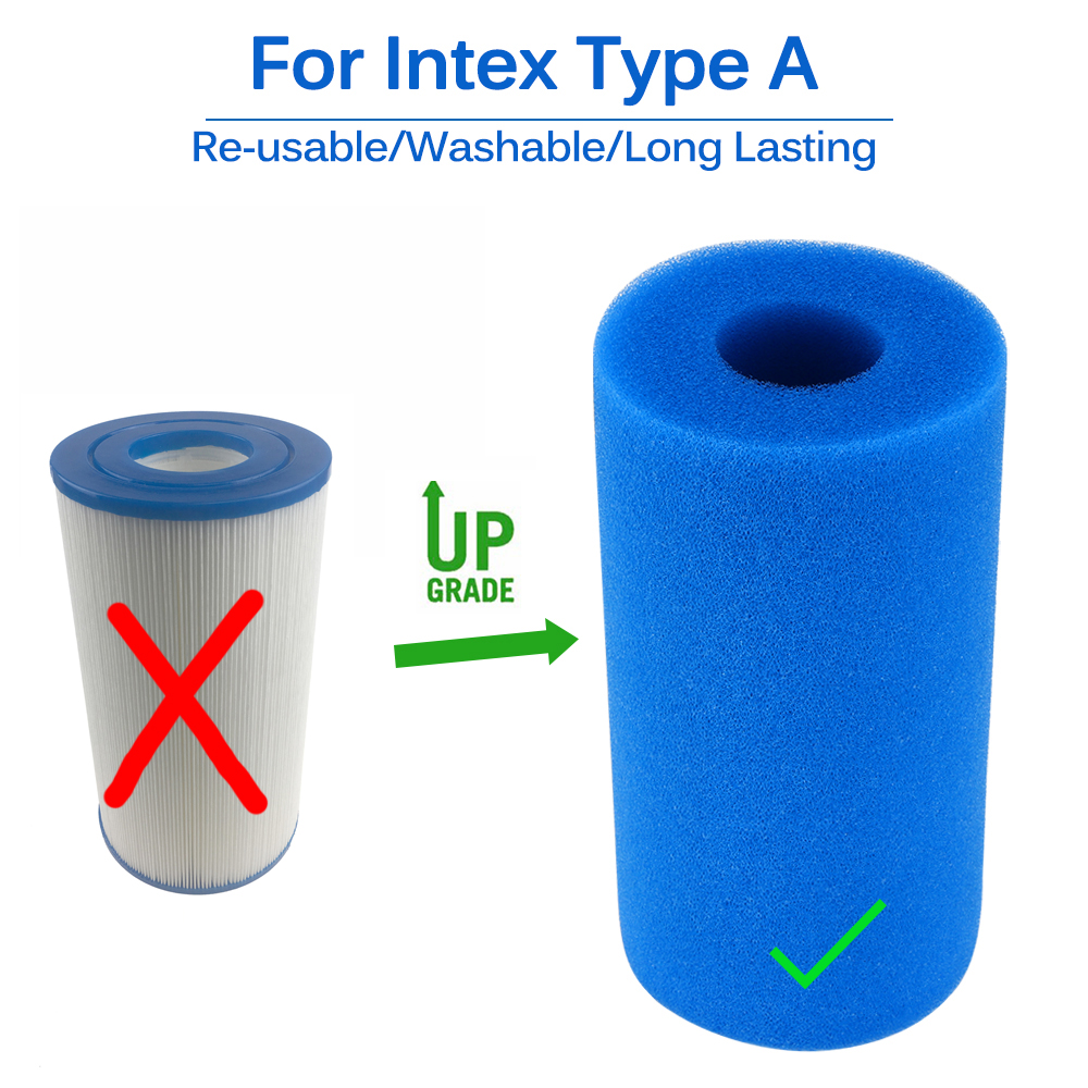 Swimming Pool Accessories Foam Filter Sponge Reusable Biofoam Swimming Pool Clean Water Filter Foam Cartridge For Intex Type A