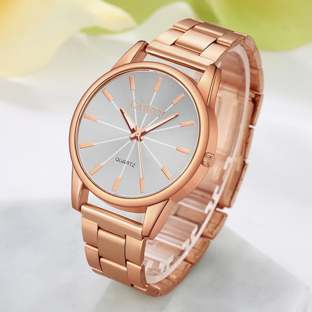 Popular Leisure Brand Luxury Watch Women Fashionable Chain Analog Quartz Round G