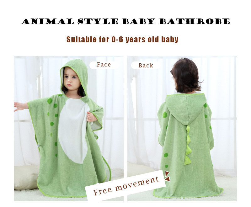 100% Cotton Baby Towel Baby Kids Spa Towel Hooded Cartoon Animal Modeling Baby Bathrobe Children Kids Bath Robe Beach Towels Towels Bath & Shower Product