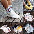 5 Pairs High Quality Autumn Winter Children Socks Girls Boys Cotton White School Socks Kids Striped in stock Warmer