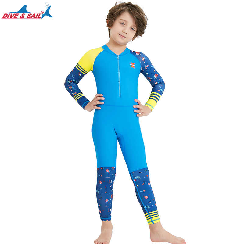 ab07a546aa0 ... Lycra Dive Skin Wetsuit for Kids Boys Girls One Piece Swimsuit Full  Body Sun UV Protection