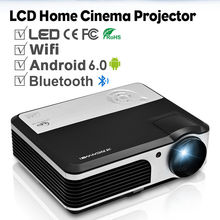 CAIWEI LCD Android WIFI Projector Bluetooth Multimedia Home Theater Beamer Support HD Video Movie Game TV HDMI VGA USB