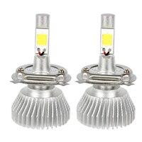 2pcs High Quality C6 Series H4 Car LED Headlight Headlamp COB Head Light High Low Beam