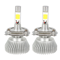 2pcs High Quality C6 Series H4 Car LED Headlight Headlamp COB Head Light High Low Beam