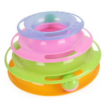 Funny Pet Toys Cat Crazy Ball Disk Interactive Amusement Plate Play Disc Turntable Cat Toy 1pc(China)