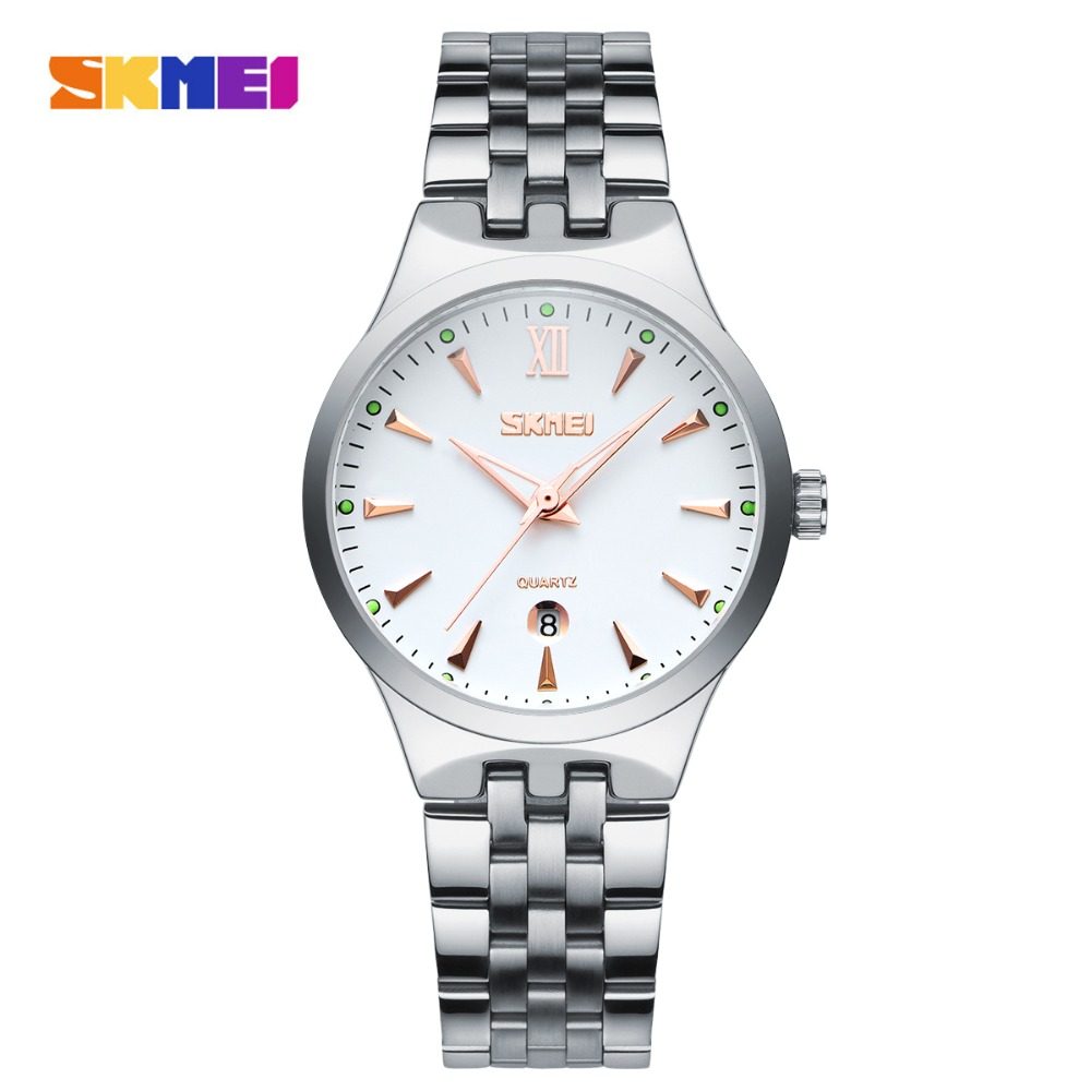 SKMEI Mens Watches Top Brand Luxury Fashion Casual Watch Men's Quartz Watches Dress Wristwatches Steel Quartz-Watch Reloj Hombre