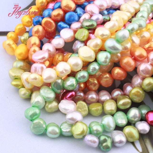 """5-7mm Freeform Irregular Freshwater Pearl Beads Natural Stone Beads For Gift Necklace Bracelets Jewelry Making 14"""" Free Shipping"""