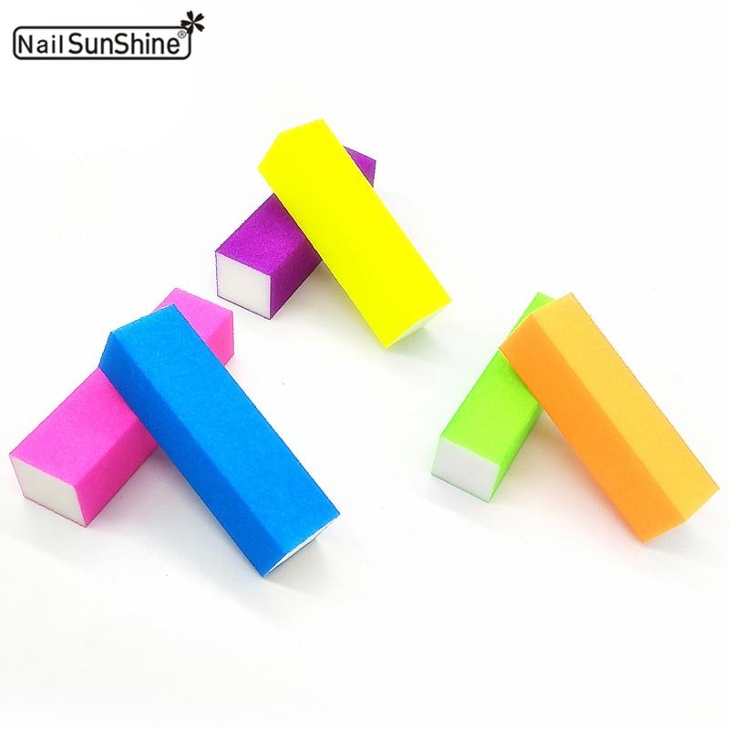 100pcs Colorful Nail Block 4 Sides Nail Art Sanding Buffing
