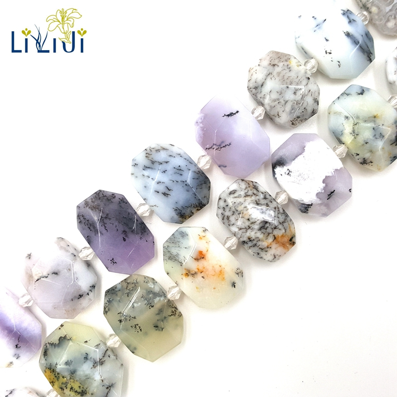 LiiJi Unique Merlinite Opalite Freefrom Facted Shape Stone Loose Beads About 16x21-18x25mm for DIY Jewelry Making about 39cm fashion women pumps gladiator peep toe women high heels shoes women casual thin heel buckle strap summer high heel pumps
