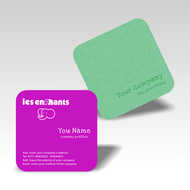 2016 flash sale discount price customized square business cards colorful printing die cutting special shape name