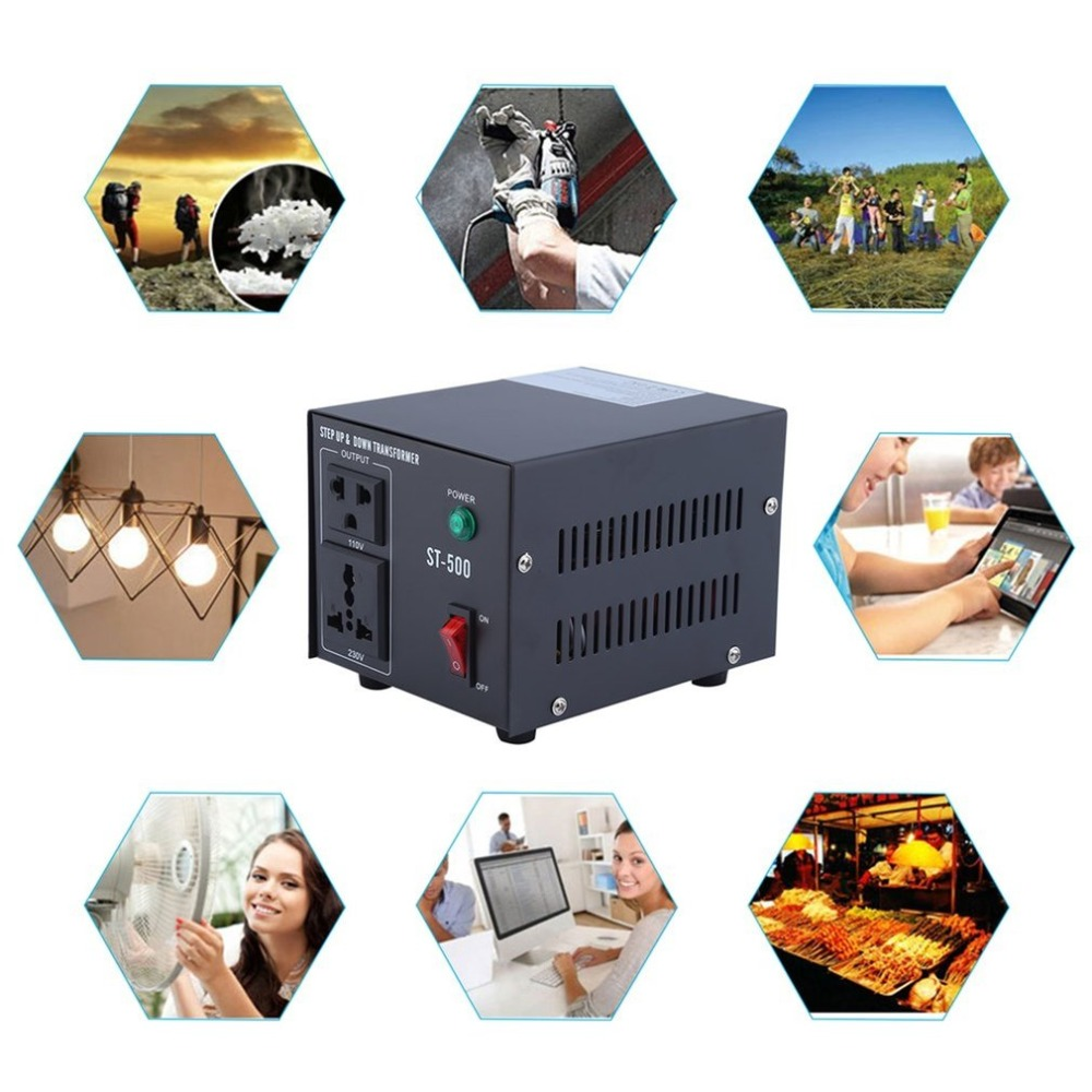 цена на ST-500W Home Use 500W Step Up And Down Transformer 110V/220V To 220V/110V Voltage Converter Power Inverter US Plug
