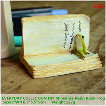 EVERYDAY COLLECTION DIY Miniature Resin Book Frog Accessories 3 D Micro Landscape Fairy Garden Decor Resin Craft Gift For Kid