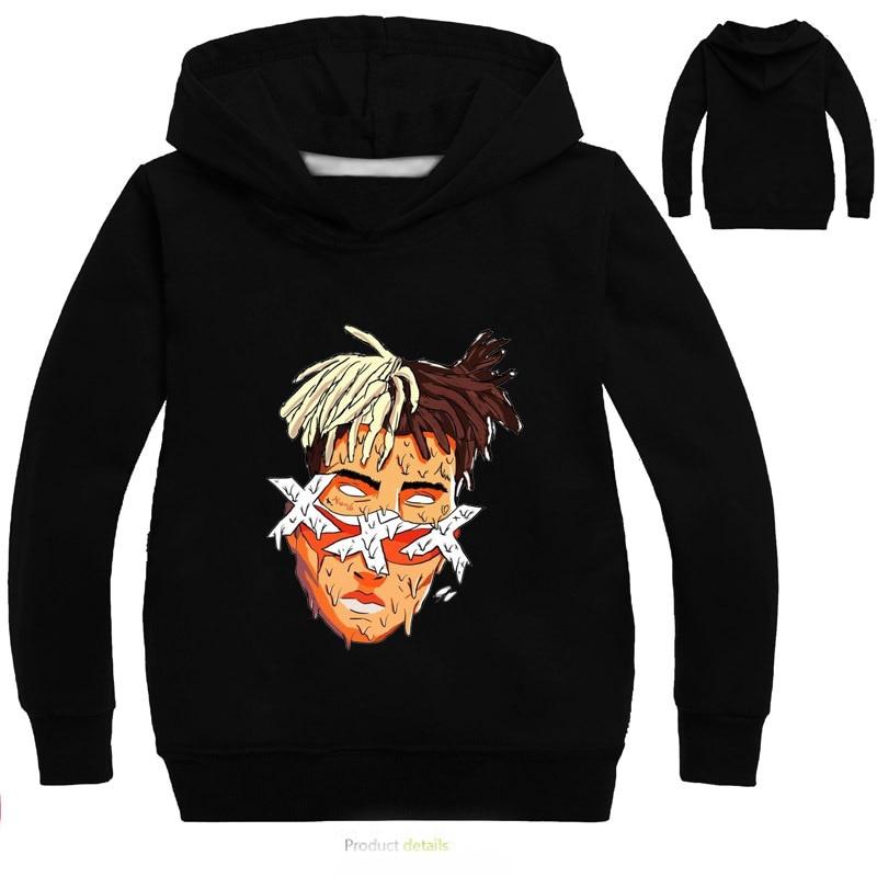 DLF New Fashion xxxtentacion Hoodies Casual Pullover Streetwear Sweatshirt Hip Hop Rapper Hooded Hoodies for Teenager Boys Coat худи xxxtentacion