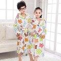 Populares Niños Pijamas Albornoz Con Capucha Cómoda ropa de Dormir de Franela Albornoces de Dibujos Animados Pijamas para Niños Niñas