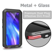 hot deal buy love mei case for lg v40 metal cover for lg v40 thinq aluminum armor shockproof waterproof case for lg v40 fundas outdoor shell