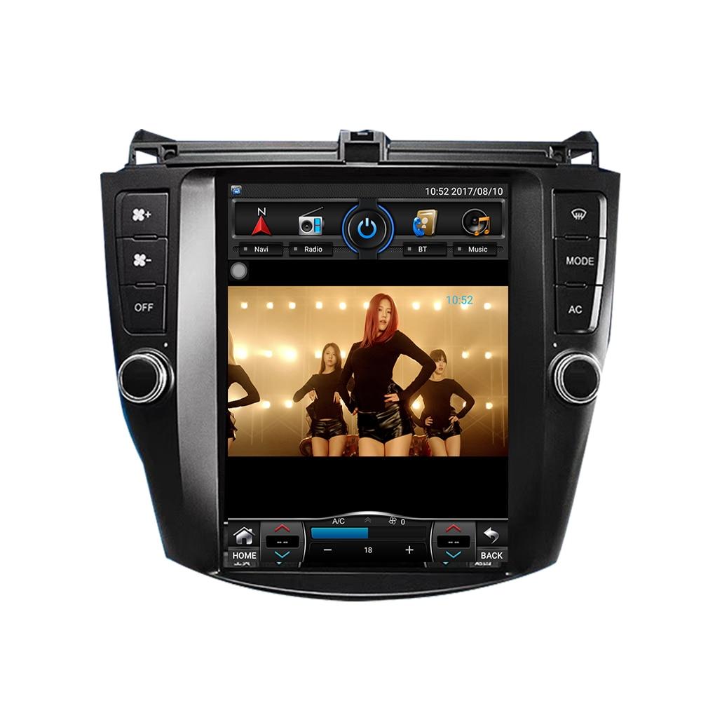 10.4 ''Tesla style Vertical Écran autoradio android Radio Pour Honda Accord 7 2003-2007 navigation gps Auto lecteur multimédia