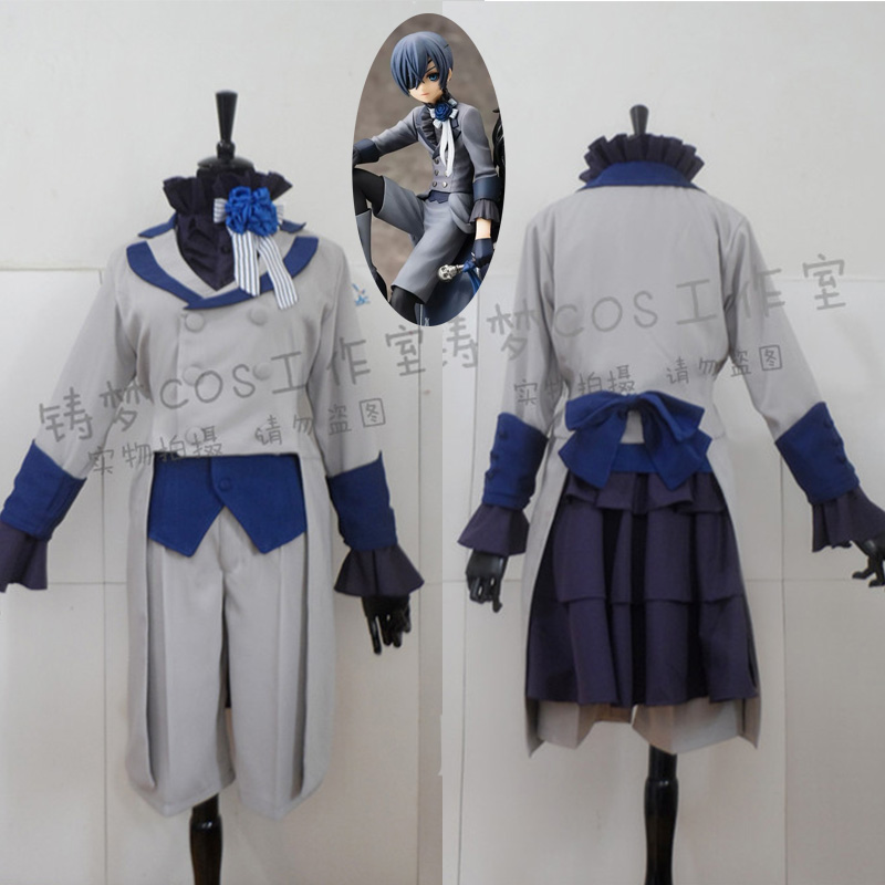 Anime Kuroshitsuji Black Butler Ciel Phantomhive Cosplay ...