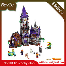 Bevle Store Bela 10432 860pcs Scooby Doo Series Mystery House Model Building Blocks Set Bricks For Children Toys LEPIN 75904