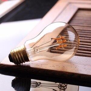 Image 3 - Светодиодный Диммируемый ретро светильник Эдисона E27 220 В 3 Вт, золотистый спиральный светодиодный светильник ST64 A19, винтажная декоративная лампа накаливания
