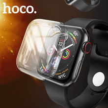 HOCO Case for Apple Watch 5 40MM 44MM Clear TPU Screen Protector Cover Full Transparent Silicone Soft Shell IWatch Series 4
