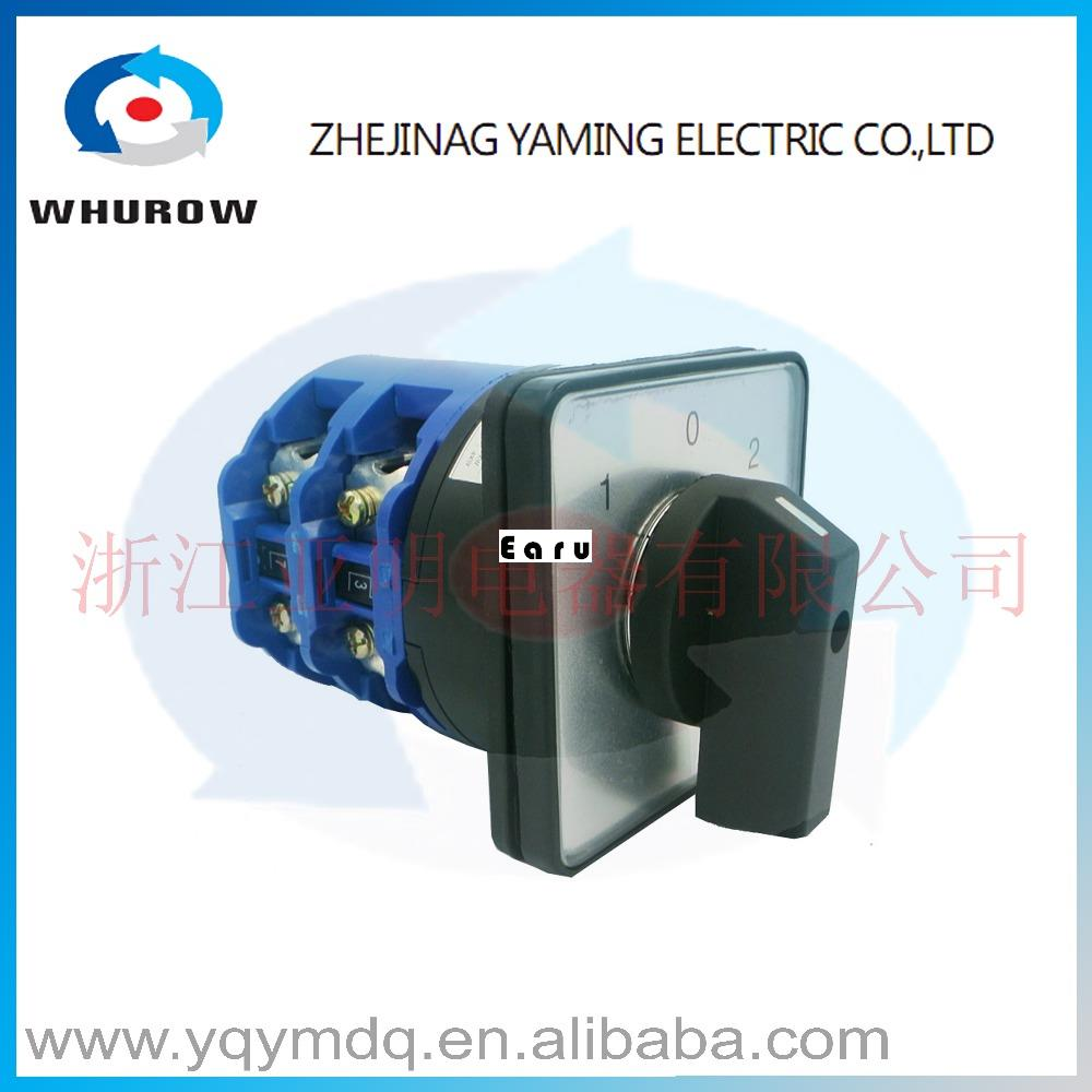 LW26-125/2 High quality dc voltage automatic electrical changeover rotary cam switch two poles125A sliver point contacts цена