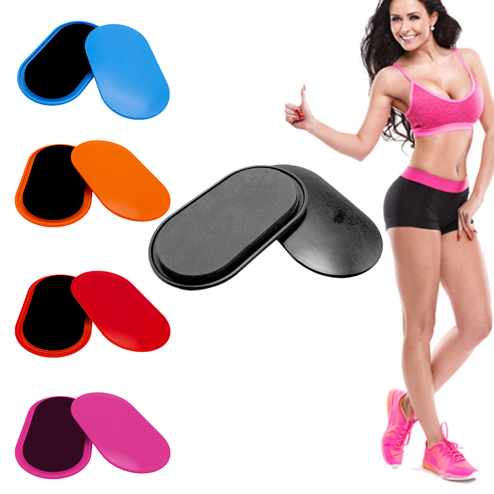 2pcs Fitness Workout Core Sliders Gliding Discs Abdominal Exercise Equipment