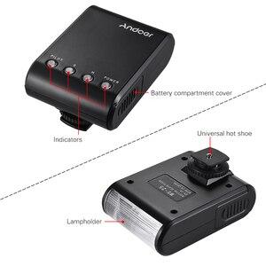 Image 3 - Andoer WS 25 Mini esclavo Digital portátil, Flash Speedlite, con zapata Universal, GN18, para Canon, Nikon, Pentax, Sony