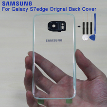 SAMSUNG Original Clear Back Glass Cover Battery Door Replacement Case For Samsung Galaxy S7 G9300 Edge G9350