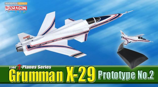 Special Dragon 1:144 51039, Grumman, X-29, Prototype, No.2, X test aircraft Collection model
