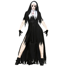 Halloween Ladies Scary Demon Nun Graveyard Corpse Zombie Fancy Dress Costume