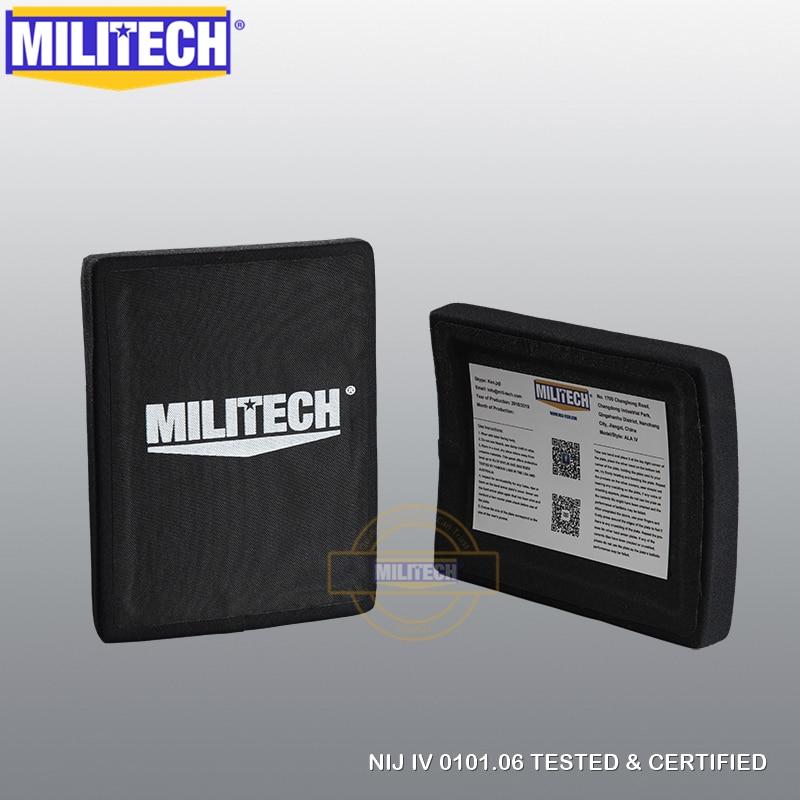 MILITECH 6x8 Inches Ballistic Panel Two PCS  ESAPI NIJ Level IV Level 4 Bulletproof Side Plate Al2o3 Stand Alone Ballistic SAPI