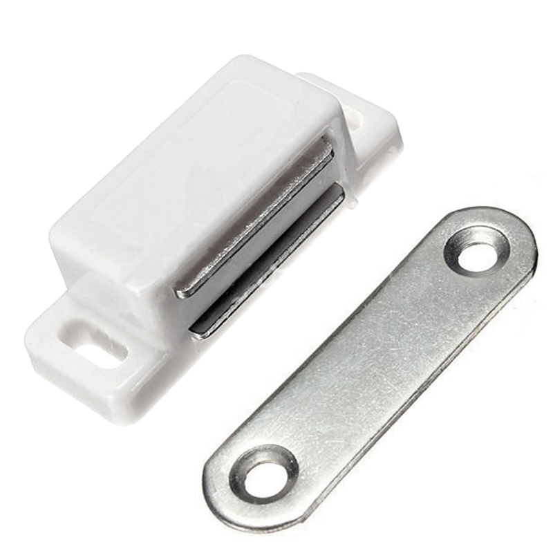 2pcs Magnetic Small Door Catches Kitchen Cupboard Wardrobe Cabinet Latch Catch White China Mainland
