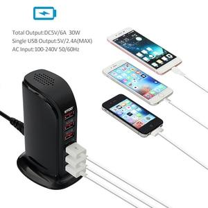Image 5 - STOD שולחן העבודה USB מטען 30W חכם מהיר טעינה עבור iPhone 6 6S 7 בתוספת SE iPad LG סמסונג huawei נקסוס טלפון AC חשמל מתאם