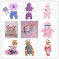 Бесплатная Доставка 4 компл. одежда + 1 Рюкзак Кукла Одежда пальто Одежда fit 43 см Baby Born zapf, дети лучший Подарок На День Рождения девочки toys