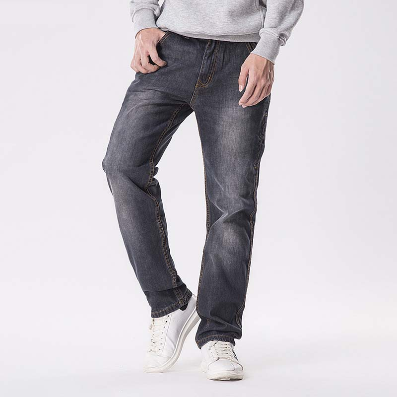 Mens Jeans Lined Stretch Denim Warm Black Jeans For Men Designer Fit Brand Trousers Pants Jeans
