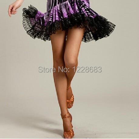 Discount Stretch Basic Latin Tights Soft Fishnet Dance Tights Ballroom Latin Dance Dress For Women