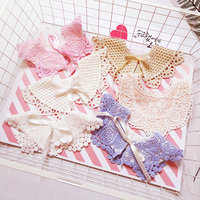 2 pieces 2019 fashion new arrival baby things cotton lace up cute hollow out print baby bib toddler scarves for boys girls